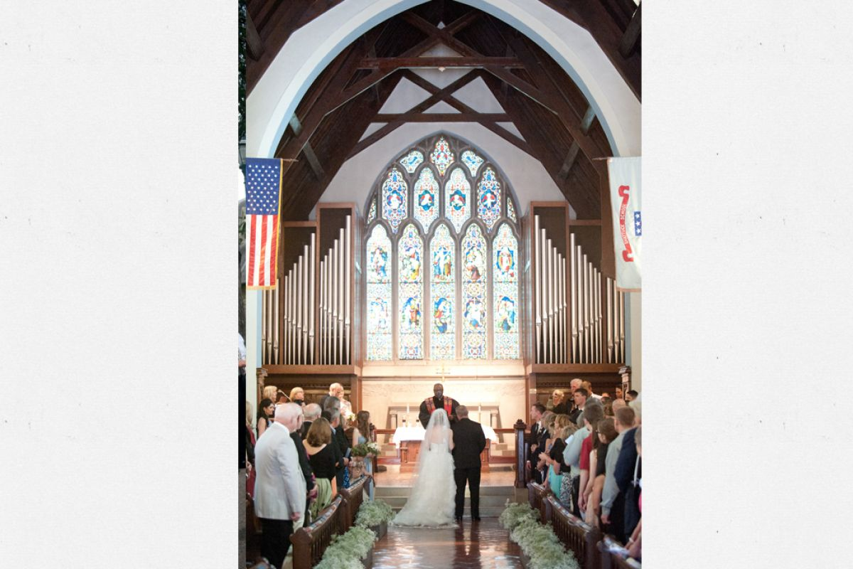 Wedding Inside Chapel